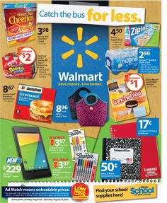 Walmart Ad Sneak Peek For 8/18/2013-8/24/2013