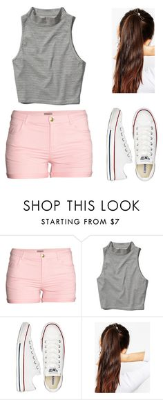 """""""OOTD"""" by jasminista1 ❤ liked on Polyvore featuring H&M, Abercrombie & Fitch, Converse and ASOS"""