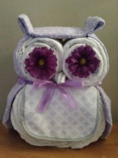Owl Diaper Cake by ReginesPartyBoutique on Etsy
