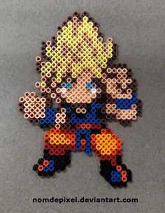 Goku Dragon Ball perler beads  by NomDePixel