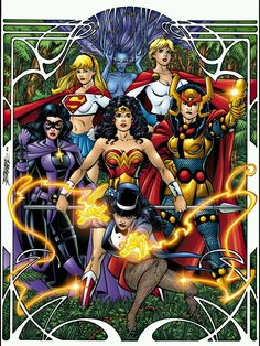 Wonder Woman and DC Women by George Perez