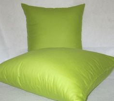Decorative Solid Pillow Covers in Lime by PillowLoftHomeDecor, $27.99