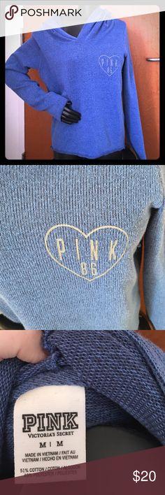 PINK Victoria's Secret hoodie and PINK card holder Like new PINK Victoria's Secret Tops Sweatshirts & Hoodies