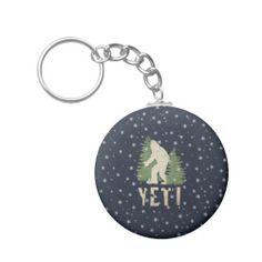 Yeti Snow Storm Key Chain
