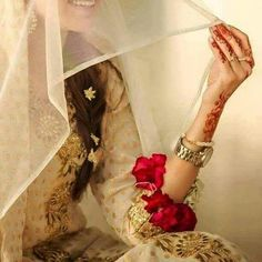 Indian Bride | Simplicity & Beauty | Pink/Red Roses x3