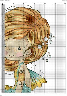 Mermaid Cross Stitch, Cross Stitch Fairy, Fantasy Cross Stitch, Cross Stitch For Kids, Mini Cross Stitch, Counted Cross Stitch Kits, Cross Stitch Charts, Cross Stitch Designs, Cross Stitch Patterns