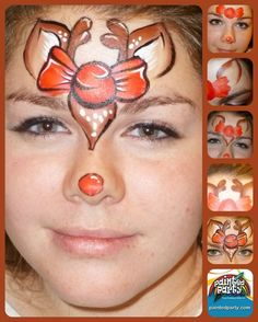 Awesome Step by Step for cute and quick reindeer design - www.sillyfarm.com