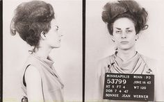 Hope's friend Barbara had a checkered past. Here she is brought in on multiple charges of crimes against hair and eyebrows... She was ultimately acquitted, but went on to commit even more daring crimes with a similar m.o.