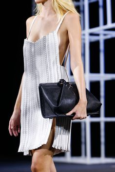 Alexander Wang - printed bonded leather strips. only produced in black.