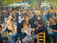 """""""El baile del Moulin de la Galette"""" (1876)- Pierre-Auguste Renoir (Impresionismo) (Francia) (1841-1919)"""
