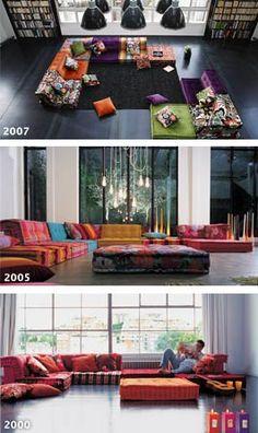 Longtime furniture favourite - Mah- Jong sofa from Roche Bobois