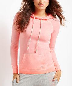 Look at this #zulilyfind! Dayglow Coral Neon Sublimation Waves Hoodie by Live Love Dream from Aéropostale #zulilyfinds