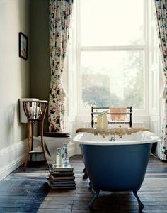 Ahhh, my dream bathroom. A Baronial Country House in County Cork : Remodelista Home Interior, Bathroom Interior, Interior And Exterior, Design Bathroom, Modern Bathroom, Bathroom Ideas, Zebra Bathroom, Cozy Bathroom, Bohemian Bathroom