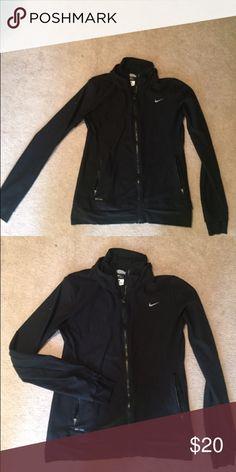 Nike running jacket Perfect cold day running jacket, thumb holes. Nike Jackets & Coats