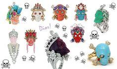 DIOR skull rings - never liked the skulls in jewellery, but these are just WOW!!!