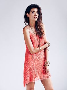 Free People Beaded Cocktail Dress, $198.00  Too sparkly for HI? TO risque for a wedding? Perhaps.  But where could you wear this if not to a HI wedding?