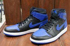 NIKE AIR JORDAN 1 RETRO HIGH OG BLACK/VARSITY ROYAL-BLACK #sneaker
