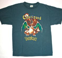 8be21e88 Vintage 90's Pokemon Charizard Shirt by VintageMensGoods on Etsy, $20.00