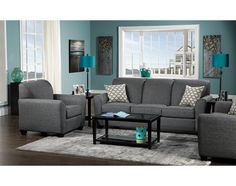 Living Room Furniture-The Ashby Collection-Ashby Sofa Living Room Color Schemes, Living Room Colors, Living Room Grey, Living Room Sets, Home Living Room, Living Room Designs, Living Room Furniture, Living Room Decor, Furniture Sets