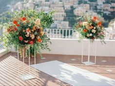 """Autumn Destination Wedding in Positano, Italy The overall theme that developed from the bride's inspiration was """"Golden Hour."""" Ideal for an Modern Wedding Flowers, Floral Wedding, Wedding Colors, Wedding Unique, Gold Wedding, Italy Wedding, Hotel Wedding, Wedding Ceremony, Destination Wedding Photographer"""