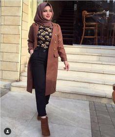 Winter hijab fashion in neutrals – Just Trendy Girls - Prom Dresses Design Modest Fashion Hijab, Street Hijab Fashion, Pakistani Fashion Casual, Hijab Chic, Muslim Fashion, Hijab Trends, Hijab Fashionista, Hijab Fashion Inspiration, Winter Fashion Outfits