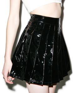 Lip Service Vinyl Vixen Pleated Skirt #skirt #skater #dollskill