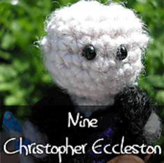 Dr Who - Ninth Doctor by Nyss Parkes (These mini Doctors do come in one single download, but they simply must be represented individually!) Free Pattern: http://www.ravelry.com/download/146980/free  #TheCrochetLounge #DrWho Collection
