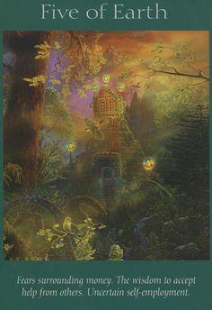 Angel Tarot Cards - Five of Earth