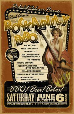 Rockabilly event poster