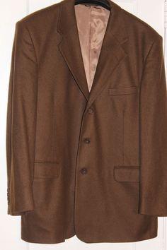 Fioravanti Couture Brown 100% Cashmere Blazer Sport Coat Jacket #Fioravanti #ThreeButton