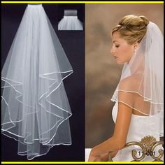 2015 2T White Ivory Wedding Bridal Accessories Pearls Ribbon Edge Comb Veil Online with $2.08/Piece on Magicdress2011's Store | DHgate.com
