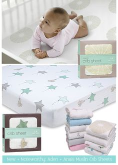 aden and anias crib sheets - love!!! I will need these if I have another baby!!