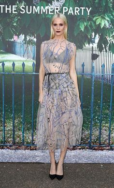 Pin for Later: London's Most Stylish Celebs Hit the Serpentine Summer Party Poppy Delevingne Wearing Christopher Kane.