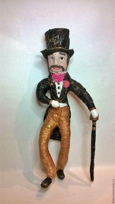 """Купить Ватная елочная игрушка """"Кавалер""""(16см) - ватная игрушка, ватная елочная игрушка"""