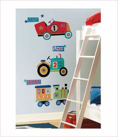Decoratie stickers: jongenskamer muurstickers kinderkamer idee Super ...