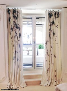 moda telas cortinas hand painted hand embroidered and hand molded feathers on classic curtains l custom i luxury