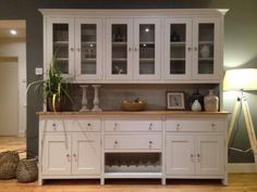 New Solid Pine 7ft Welsh Dresser Kitchen Unit Cabinet Painted Shabb y Chic in Home, Furniture & DIY, Furniture, Sideboards, Buffets & Trolleys | eBay