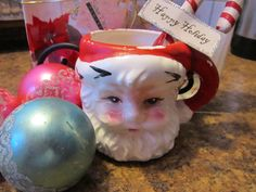 Vintage Santa Claus Mug by sweetpeaspantry on Etsy, $3.00