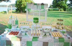 Green Dessert Table / Buffet