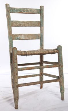 Assorted vintage distressed chairs