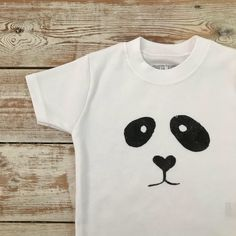 Items similar to Panda Baby Top - Toddler Panda T-Shirt - Panda Baby Clothes - Cute Baby T-Shirt - Panda Face - Black and White Baby Top on Etsy Little Babies, Cute Babies, Black And White Baby, Cute Toddlers, Niece And Nephew, Organic Baby, Panda Bear, Baby Bodysuit, New Baby Products