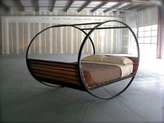 Rocking chair bed will rock you to sleep Handmade Home, Bed Furniture, Furniture Design, Makeup Furniture, Welded Furniture, Furniture Removal, Furniture Movers, Furniture Online, Furniture Stores