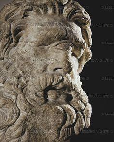 Cyclops Polyphemus. Marble head (2nd BCE)   Museum of Fine Arts, Boston, USA
