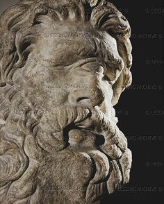 Cyclops Polyphemus. Marble head (2nd BCE)   Museum of Fine Arts, Boston, USA