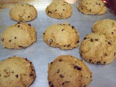 Pumpkin Chocolate Chip cookies. Only 3 ingredients. Easy and soft cookie.  Weight watchers 1 point. These always make my house smell like Fall.