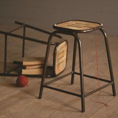 Sedgwick Stool with Wooden Top