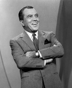 The Original Talk Show Host! Ed Sullivan - used to watch every Sunday night...before the tv NHL hockey game - Ed was the one to introduce the Beatles to America - MReno
