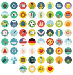 Great set of flat icons by Round Icons. Round Icons have a 1000 Flat and unique vector icons, and have just released a free set of Flat Icons, Flat Ui, Icon Design, Web Design, Graphic Design, Flat Design, Design Layouts, Icon Set, Ui Patterns