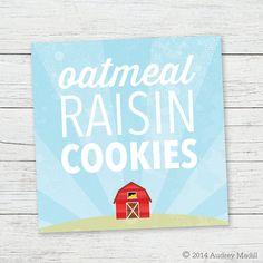 Printable Food Labels  Farm Animal Birthday by PRINTSforEVENTS