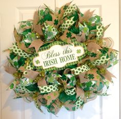 St. Patrick's Day wreath by DeVine Creations by Melanie